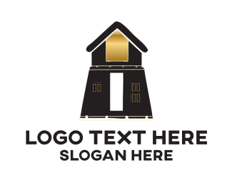 Cottage - Brown Building logo design