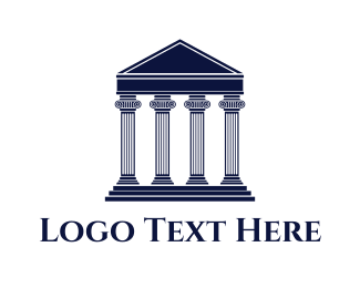 Pantheon - Greek Facade logo design
