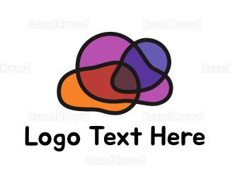 Outlines - Cloud Outline logo design