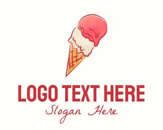 Ice Cream - Gelato Ice Cream logo design