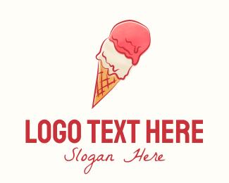 Watercolor - Gelato Ice Cream logo design