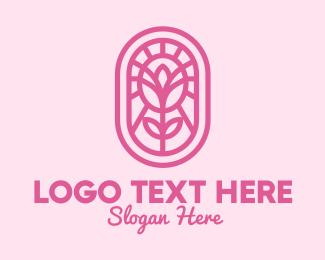 Pink - Pink Flower logo design
