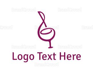 Bartender - Wine & Music logo design