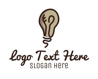 New - Light Bulb Mind logo design