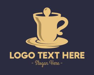 Hot Choco - Golden Bell Cafeteria logo design