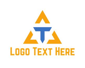 Icon - Letter T Triangle  logo design