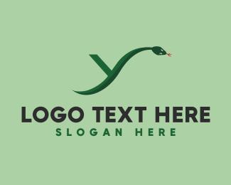 Python - Python Snake Letter Y logo design