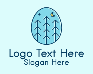 Holiday - Night Egg Forest logo design