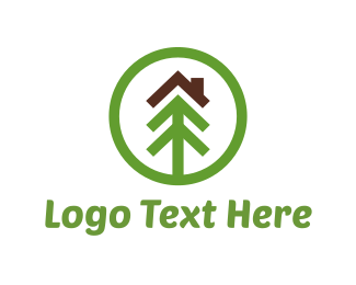 Brown - Ecological House logo design