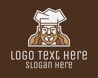 Executive Chef - Hipster Chef logo design