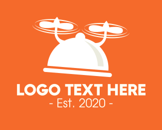 Takeout - Modern Flying Dish logo design