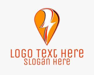 Electrical - Electrical Thunder Pin logo design