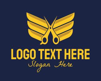 Golden - Golden Wing Salon logo design