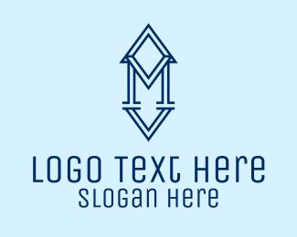 Estate - Real Estate Letter M  logo design