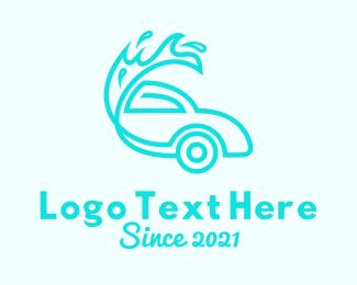 Blue Car Wash Logo