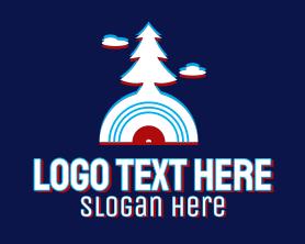 App - Glitch Pine Tree CD logo design