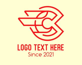 Express - Red Express Letter C logo design