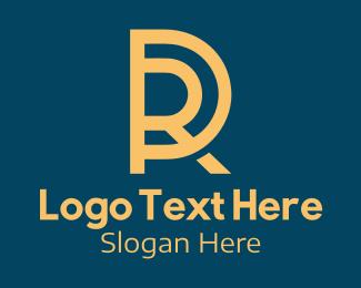 Pr - Orange P & R Monogram logo design