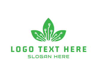 Leaf - Digital Leaf logo design