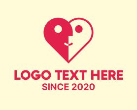 Date - Dating Couple Heart logo design