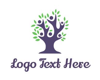 Family - Blue Tree Family  logo design