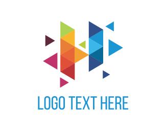 Heat - Colorful Triangles logo design