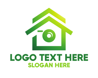 Green Camera - Green House Camera  logo design