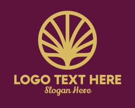 Shell - Gold Abstract Shell Fan logo design