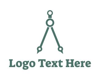 Math - Simple Compass logo design