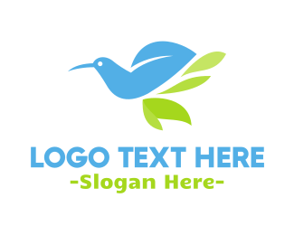 Dove - Blue Bird Leaf logo design