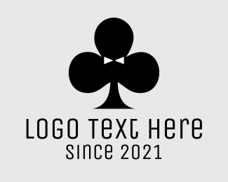 Slot Machine - Black Poker Tuxedo logo design