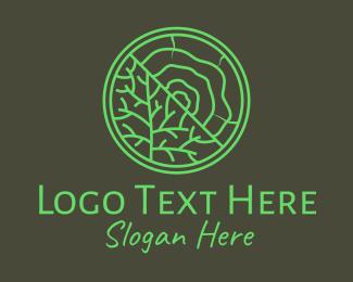 Life - Tree Trunk Wood Woodgrain logo design