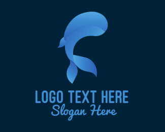 Whale Shark - Blue Whale Waterpark logo design