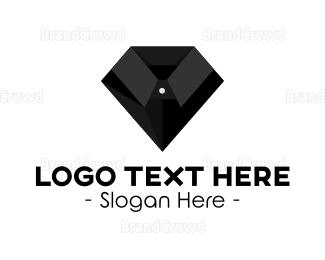 Collar - Black Diamond Suit logo design