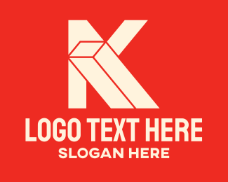 Rectangular - Geometric Letter K logo design