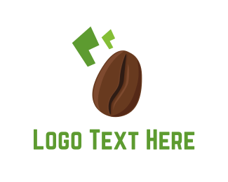 Green And Brown - Brown Coffee Bean logo design