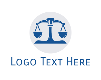Crime - Blue Legal Lawyer Scales logo design
