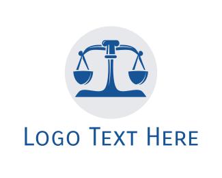 Lawyer - Blue Legal Lawyer Scales logo design