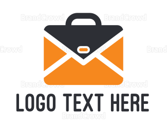 Cyberspace - Mail Briefcase logo design