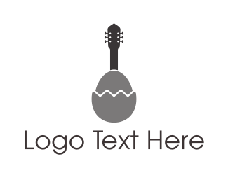 Acoustic - Egg Guitar  logo design