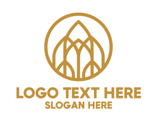 Property Developer - Luxurious Golden Emblem logo design