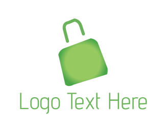 Shopping Bag - Green Bag logo design