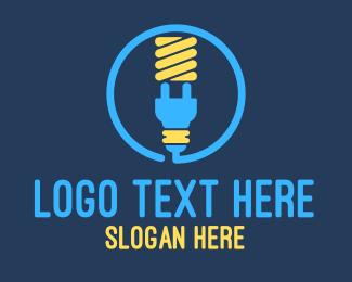 Plug - Lightbulb Plug logo design
