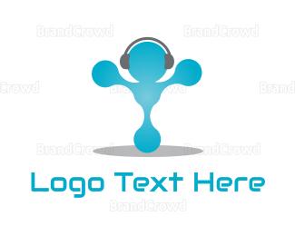 Man - Headphone Man logo design