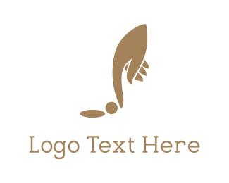 Finger - Golf Hand logo design
