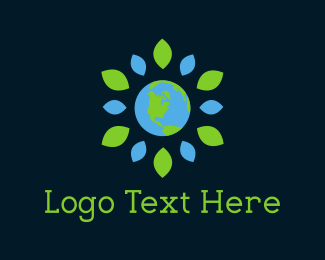 Ecosystem - Flower Planet logo design