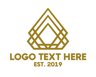 Golden - Golden Diamond logo design