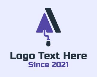 Dig - Purple Trowel Roof logo design