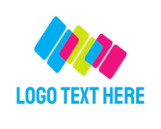 Media Agency - Colorful Blocks logo design