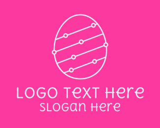 Party Game - Pink Egg Tech Network logo design